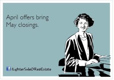April Offers Bring May Closings
