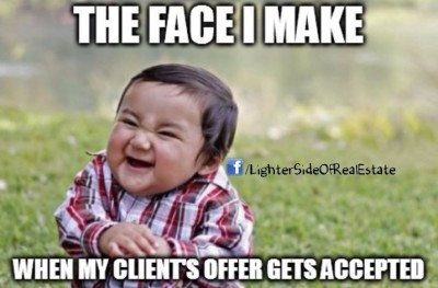 The face I make when my clients offer gets accepted